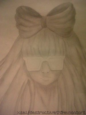 Lady Gaga pencil shading by xselfdestructive