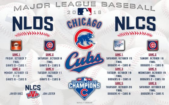 Chicago Cubs 2016 Postseason by Superman8193