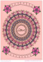 Love Mandala Collab by Quaddles-Roost