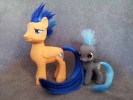 MLP: FiM - Flash Sentry and Thunderlane - customs by hannaliten