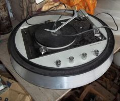 Round Record player of the past by specialoftheweek