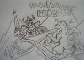 Powers Rangers vs Godzilla by SuperGon-64