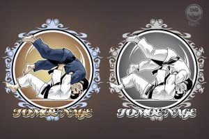 New Judo Tee Shirt Design - Tomoe Nage by EryckWebbGraphics