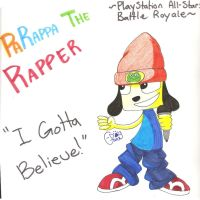 PlayStation All-Star Battle Royale: PaRappa Rapper by Gangster-dog