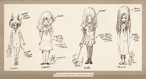Character Profile Sketches by beyourpet