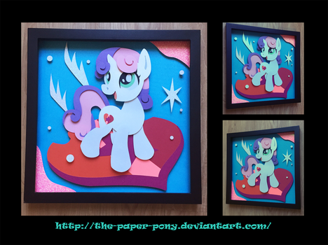 12x12 Cutie Mark Sweetie Belle Shadowbox by The-Paper-Pony