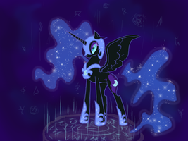 Nightmare moon by NKazhan