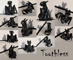 Toothless Sculpey by Caresse-par-la-lumie