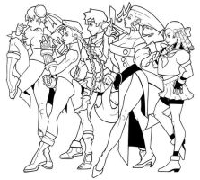 Women of Street Fighter by tabbykat