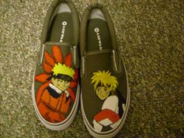 BELIEVE IT NARUTO SHOES by GHOSTBUSTER1