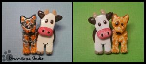 Australian Cattle Dog and Cows Pins by DreamEyce