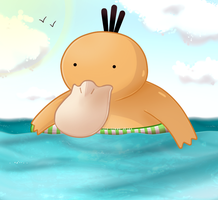 Psyduck by ice-cream-skies