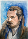 Qui-Gon ACEO by CalSparrow