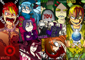 The Seven Deadly Sins by DNAfused