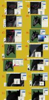 Horse Head Tutorial Step by Step C by BLACKNIGHTINGALE81