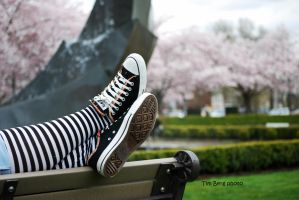 Converse at the Park by dislexicpalindrome