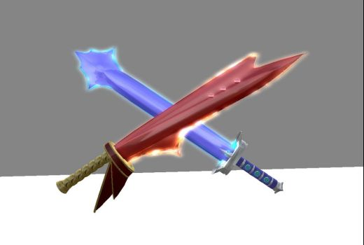 Vorpal Sword and Flamberge by WeaponsGradeStupid