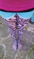 Zebra tights by ScruffyFluffy
