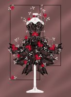 Roses and Thorns Dress by rockgem