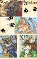 Anthrocon Badges by wingedsiamese