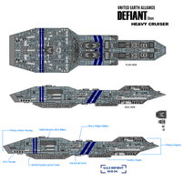 United Earth Defiant Cruiser by fongsaunder