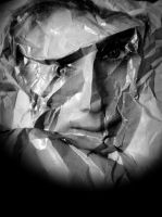 crumpled paper portrait 23 by April-Mo