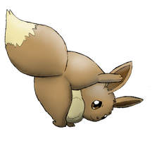 Shy Eevee butt request by Alvro