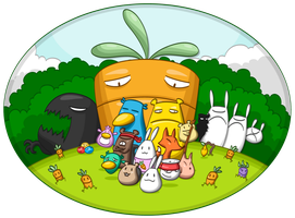 MdM bunny and the giant carrot by MdMbunny