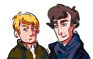 John and Sherlock by thekinkreet
