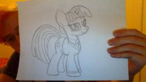 Twilight Sparkle as Hermione (Sketch) by drawponies