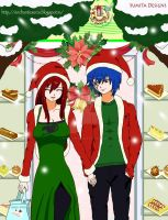Jerza x-mas by enchantic-erza