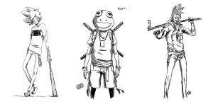 Character concepts sheet 1 by TeegKetchen