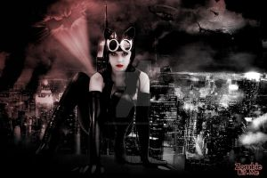 Catwoman in Gotham City by ZOMBIEBITME