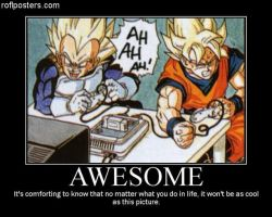 Goku and Vegeta playing Nintendo 64 by DBZ-Forever