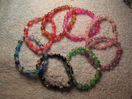 Elemental glass bead bracelets 1 by Fallonkyra