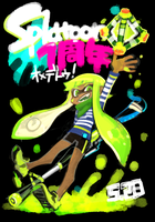 First Anniversary of splatoon !!! by enyood