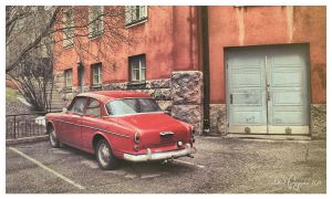 Red Volvo Amazon by Pajunen