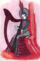 a harpist by Song-Gamayun