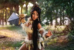 Nidalee from League of Legends by MoguCosplay