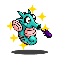 Shiny Horsea + Yurarin Boo (Super Mario Land) by shawarmachine