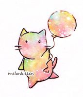 colorful melonkitten by Melonkitten