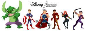 Disney Avengers, Assemble by racookie3