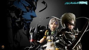 Metal Gear Rising Revengence (Raiden/Sunny/Wolf) by Outer-Heaven1974