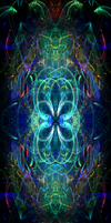 Another Rainbow Fractal Background by darkdissolution