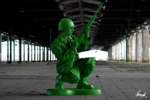 green plastic soldier by InsaneAnni