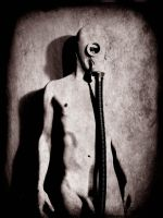nude in a gasmask by ex-oblivione