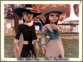Ethan GhostForge and Alexis DayDreamer by xXBlackLaceXx