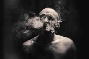 Iwan smoking by blooding