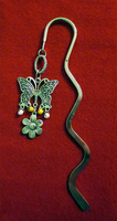 Silver Butterfly Bookmark by BloodRed-Orchid