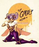 Q-Bee Pinup by Jynxed-Art